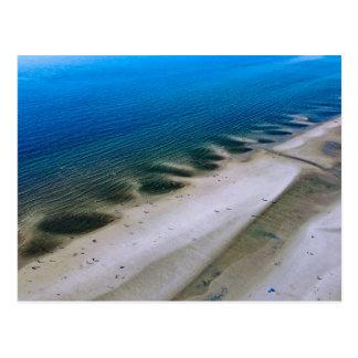 Beach & sea   postcard aerial photograph Fotogr