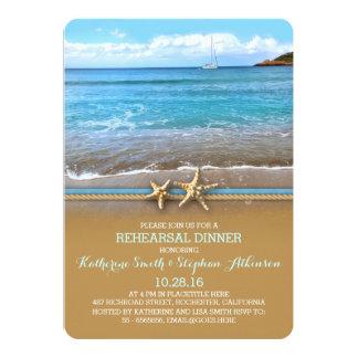 Beach sea rehearsal dinner invitations