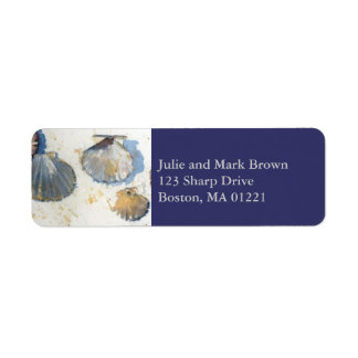 Beach Sea Shells Return Address Label