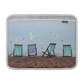 Beach Seagulls and Deckchairs Sleeves For MacBook Air
