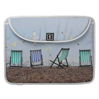 Beach Seagulls and Deckchairs Sleeves For MacBook Pro