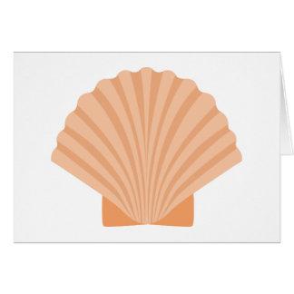 Beach Seashell Orange Nautical - Thank you, Hello, Card