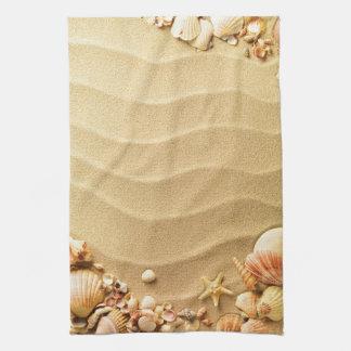 Beach Seashells Hawaii Sand Kitchen Dish Towel