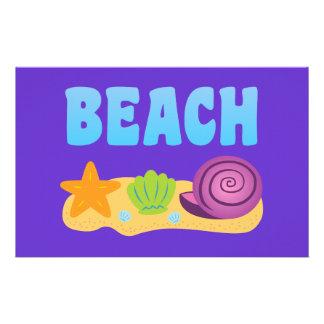 Beach Seashells Stationery Design