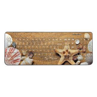 Beach Seashells Wireless Keyboard