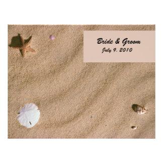 Beach Serenity Folded Wedding Program 21.5 Cm X 28 Cm Flyer