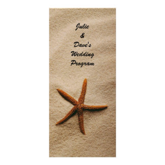 Beach Serenity Wedding Program Card Personalized Rack Card