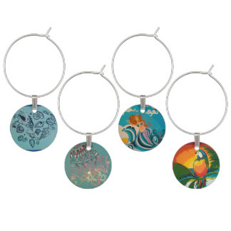Beach Series I Wine Charm