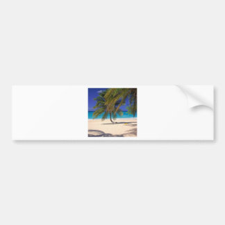 Beach Seven Mile Grand Cayman Bumper Sticker