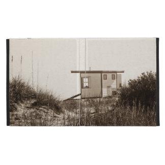 Beach Shack in Sepia iPad Folio Covers