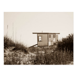 Beach Shack in Sepia Postcard