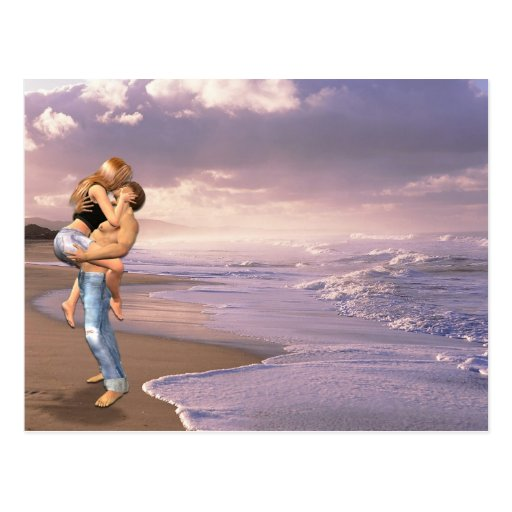 Beach She Said Yes copy Postcard