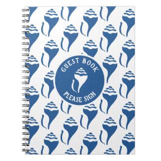 Beach shell birthday notebook