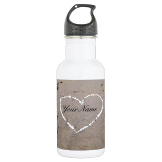 Beach Shell Heart Personalized With Your Name 532 Ml Water Bottle
