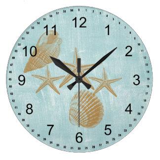 Beach Shells Clocks