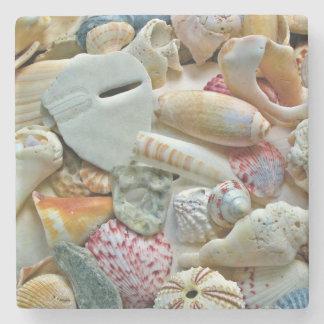 Beach Shells Collection Photography Coaster Stone Coaster