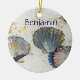 Beach Shells Door Hanger Round Ceramic Decoration