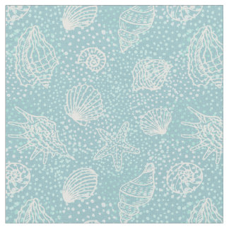 Beach shells fabric