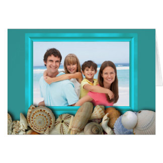Beach Shells Family Photo Frame Holiday Cards