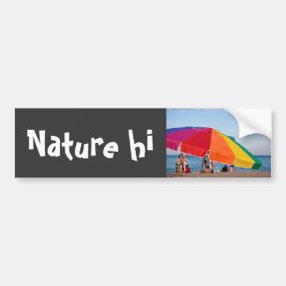 beach shelter car bumper sticker