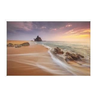 Beach Shoreline   Nature Photography   Landscape Canvas Print