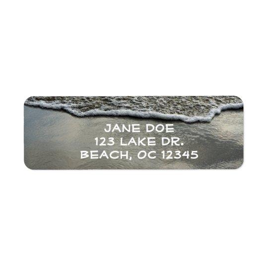 Beach Shoreline Return Label Return Address Label