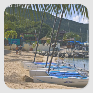 Beach side at Leverick Bay Resort & Marina, Square Stickers