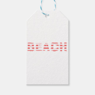 Beach Sign - stripes Gift Tags