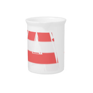 Beach Sign - stripes Pitcher