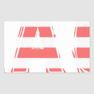 Beach Sign - stripes Rectangular Sticker