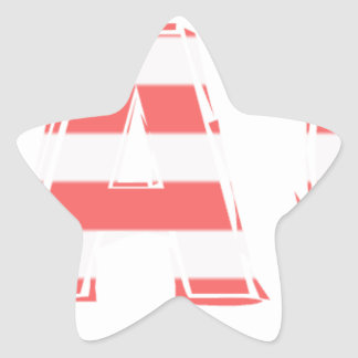 Beach Sign - stripes Star Sticker
