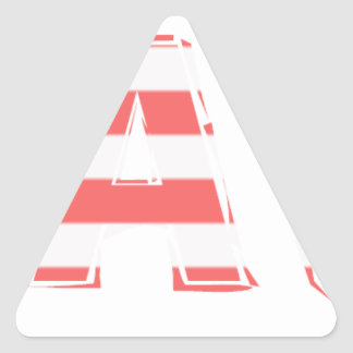 Beach Sign - stripes Triangle Sticker