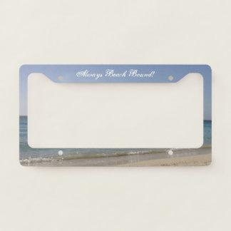 Beach Sky Sandy -Always Beach Bound Licence Plate Frame