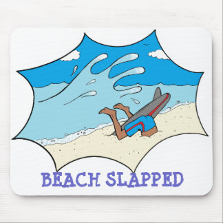 Beach Slapped Surfer Mouse Pad