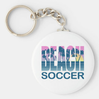 Beach Soccer Basic Round Button Key Ring