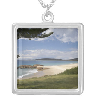 Beach, South West Rocks, New South Wales, Square Pendant Necklace