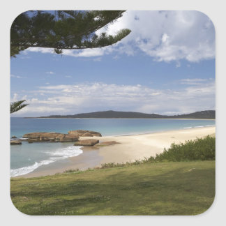 Beach, South West Rocks, New South Wales, Square Sticker