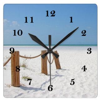 Beach Square Wall Clock