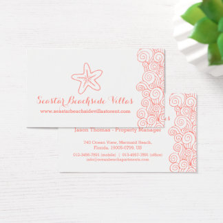 Beach starfish coral property letting cards