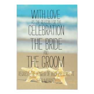 beach starfish wedding invitation