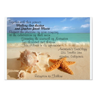 Beach Starfish Wedding Invitiation Customize!! Card