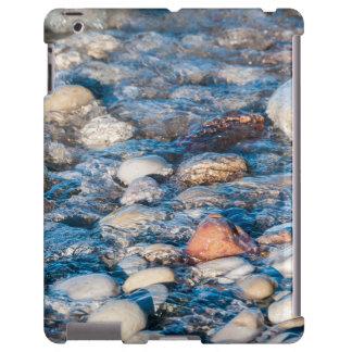 Beach stones on the lake shore