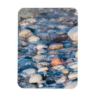Beach stones on the lake shore magnets