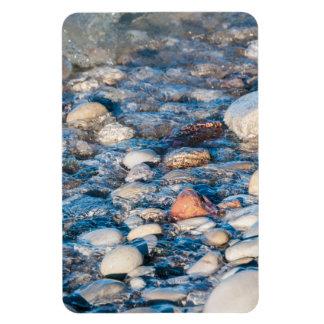 Beach stones on the lake shore rectangle magnet