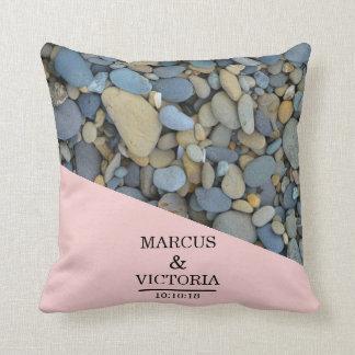 Beach Stones Pebbles Wedding Cushion