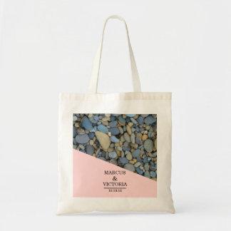 Beach Stones Pebbles Wedding Tote Bag