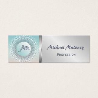 Beach Style Dolphin Mandala Mini Business Card