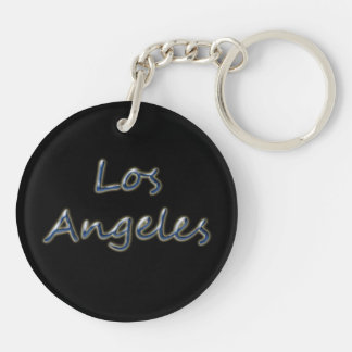 Beach Style Los Angeles - On Black Key Ring