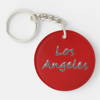 Beach Style Los Angeles - On Red Key Ring