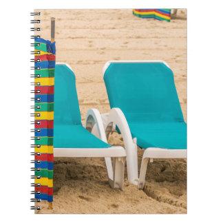 Beach sun loungers notebook
